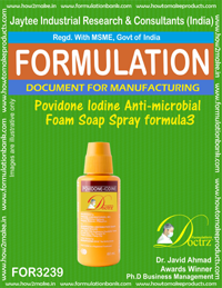 Povidone Iodine Anti-microbial Foam Soap Spray formula 3