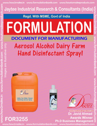 Aerosol Alcohol Dairy Farm Hand Disinfectant Spray1 (for3255)