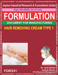 HAIR REMOVING CREAM TYPE 1(Formula No 331)