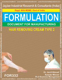 HAIR REMOVING CREAM TYPE 2(Formula No 332)