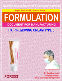 HAIR REMOVING CREAM TYPE 3 (Formula No 333)