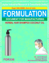Herbal shampoo with coconut oil (Formula No 336)