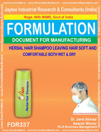Herbal hair shampoo(Formula no 337)