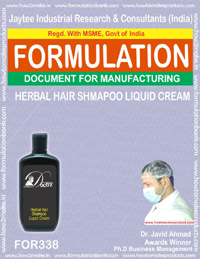 Herbal hair shampoo liquid cream( Formula 338)