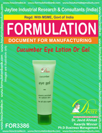 cucumber eye lotion or gel formula (FOR 3386) [Formulation