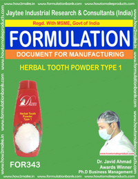 Herbal tooth powder type 1(formula No 343)