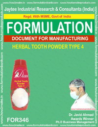 Herbal tooth powder type 4 (formula No 346)