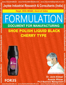 Shoe Polish Liquid Black Cherry Type