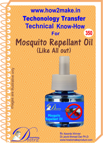 Mosquito Repellent Oil Technical know-how (TNHR 350)