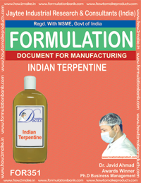 Process for making indian terpentine (Formula 351)