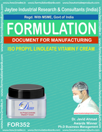 Isopropyl linoleate based vitamin f cream ( Formula 352)