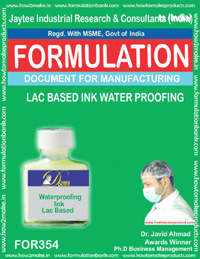 Lac based water proofing ink (Formula 354)