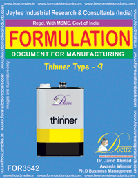 Formulation Of Thinner Type - 9 (For 3542)