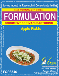Formulation Of Apple Pickle (FOR 3546)