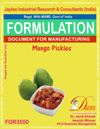 Mango Pickle Formula Recipe (FOR 3550)