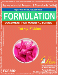 Turnip Pickles Formula Recipe (FOR 3551)