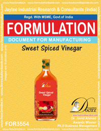 Sweet Spiced Vinegar Formula Recipe (FOR 3554)