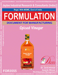 Spiced Vinegar Formula Recipe (FOR 3555)