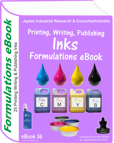 Inks,for Printing, Writing, Publishers Formulations (eBook36)