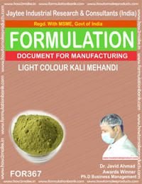Light color kali mehndi m (Formula 367)