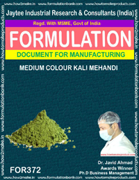 Medium color kali mehandi (Formula No 372)