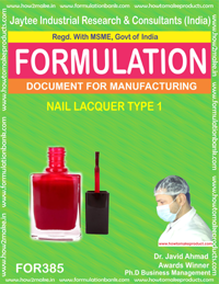 Nails lacquer type 1 ( Formulation no 385)
