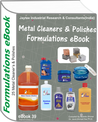 Metal Cleaner and Polishes Formulations eBook(eBook39)