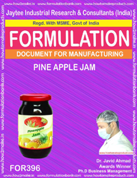 Recipe of pine apple jam( formula 396)