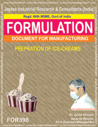 Recipe for preparation of ice cream (formula 398)