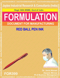 Red ball pen ink(Formula 399)