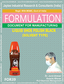 Shoe Polish Liquid Black Solvent Type