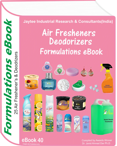 Air Fresheners and Deodorizers Formulations eBook(eBook40)