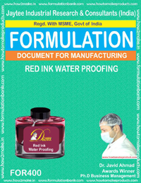 Red waterproofing ink (formula no 400)