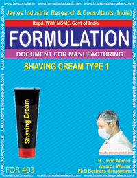Shaving cream type1 (formula 403)