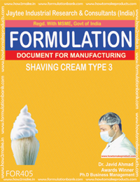 Shaving cream (formula No 405)
