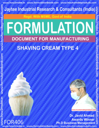 Shaving cream (formula No 406)