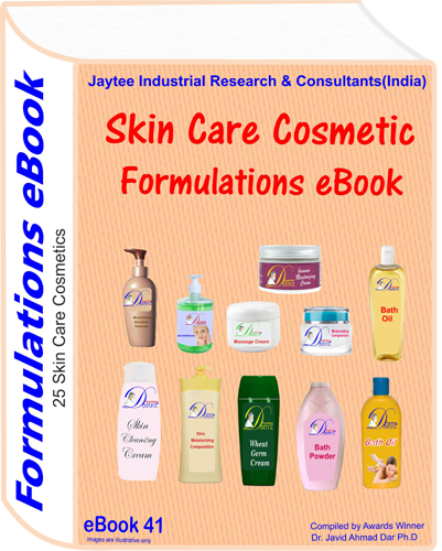 Skin Care Cosmetics Formulations eBook (eBook41)