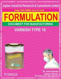 varnish (Formula no 425)