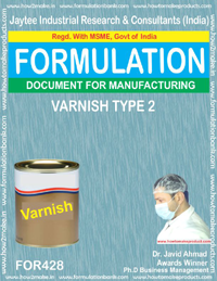 formula of varnish (Formula no 428)