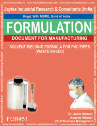 Solvent welding formula (Kydex sheet type) Formula 451