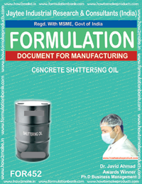 Shuttering oil for concrete (Formula 452)