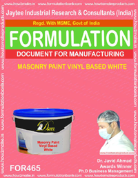 Vinyl based masonry paint white (formula no 465)