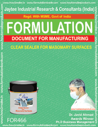 Clear sealer for masonry surface(formula 466)