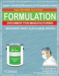 Masonry paint alkyd based white (formula 468)