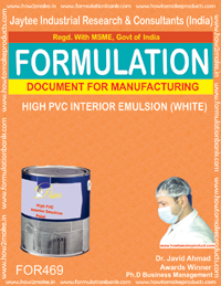 High pvc masonry paint (formula no 469)