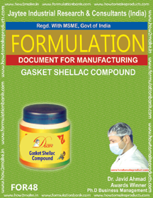 Gasket Shellac Compound for auto engine head sealing