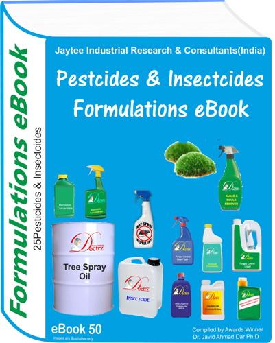 Pesticides and Insecticides Formulations eBook(eBook50)
