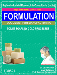 TOILET SOAP BY COLD PROCESS (FORMULA 521)