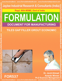 Tiles gap filler grout economic (formula 537)