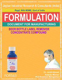 BEER BOTTLE LABEL REMOVER CONCENTRATE COMPOUND (FORM